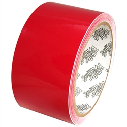 Tape Planet 3 Mil 2 X 10 Yard Roll Red Outdoor Vinyl Tape Vinyl Adhesive Vinyl Paper Adhesive Vinyl Sheets