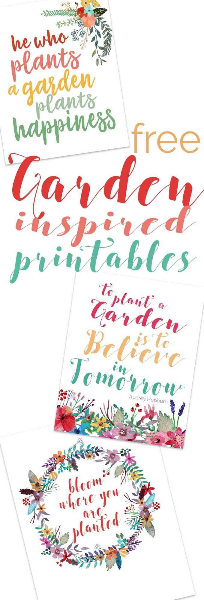 Free Garden Quote Printable Art - Easy DIY Decorating Idea
