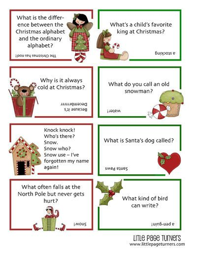 Christmas Jokes For Kids Pdf Printable