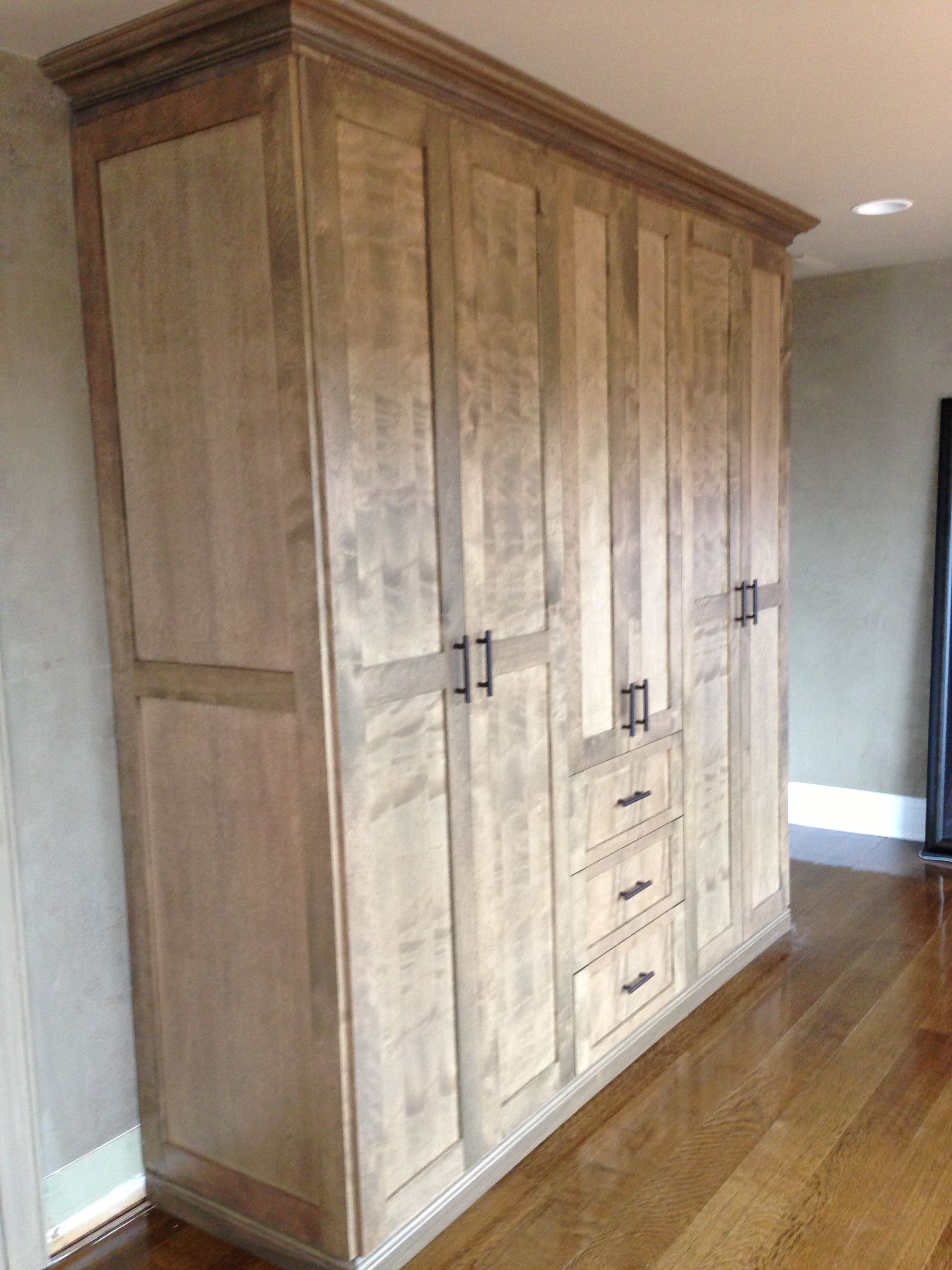 Custom Wall Unit #wallunit #customcabinetry #storage