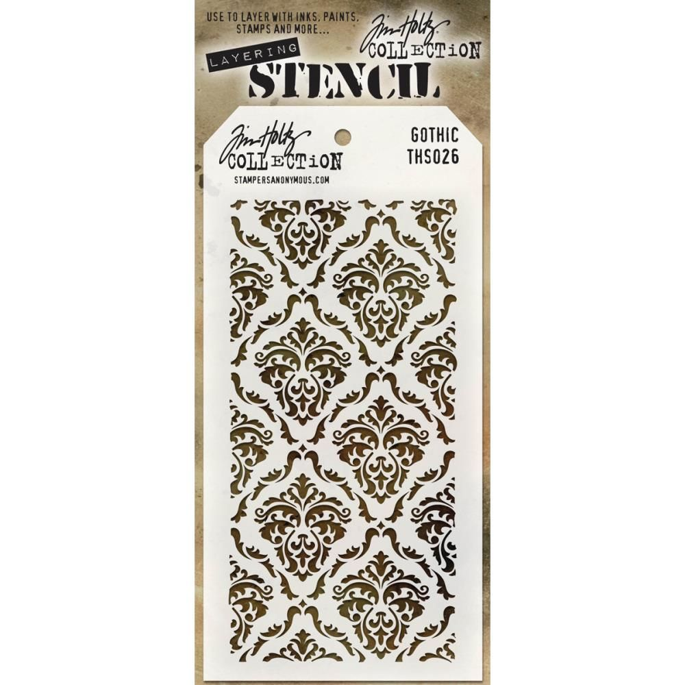 Stampers Anonymous Tim Holtz Collection Lace Layering Stencil Mixed Media