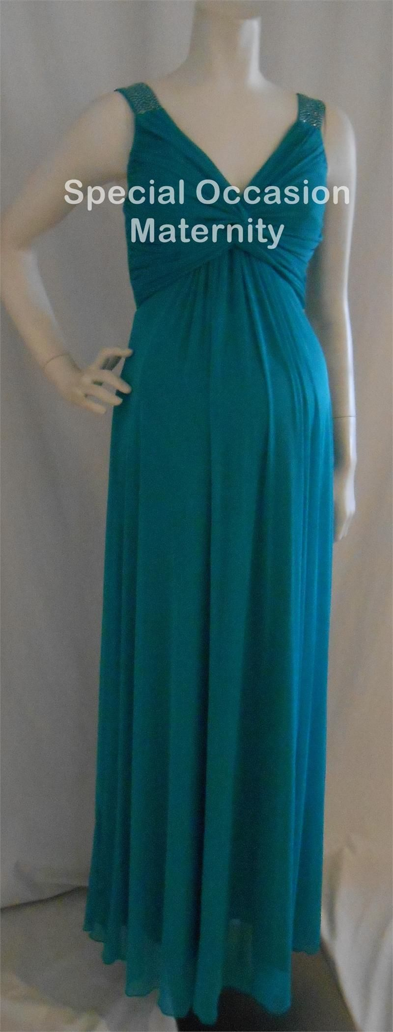 Teal maternity dress for your bridesmaids rhinestones on teal maternity dress for your bridesmaids rhinestones on shoulders stretchy ombrellifo Choice Image