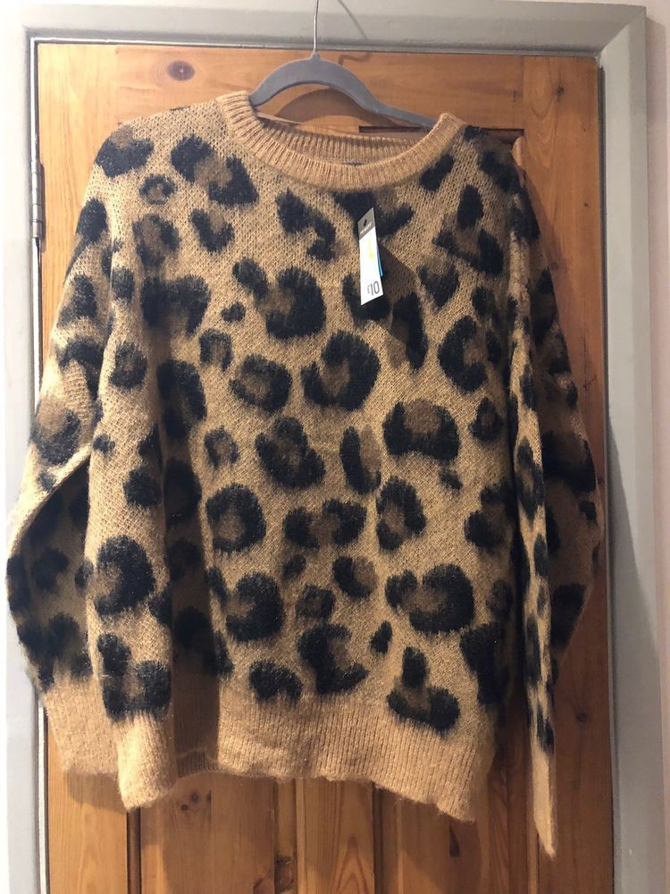 a73e052fafac2b BNWT Primark Leopard/Animal Print Brushed Fluffy Jumper Sz L 14/16 Sold Out  #fashion #clothing #shoes #accessories #womensclothing #sweaters (ebay link)