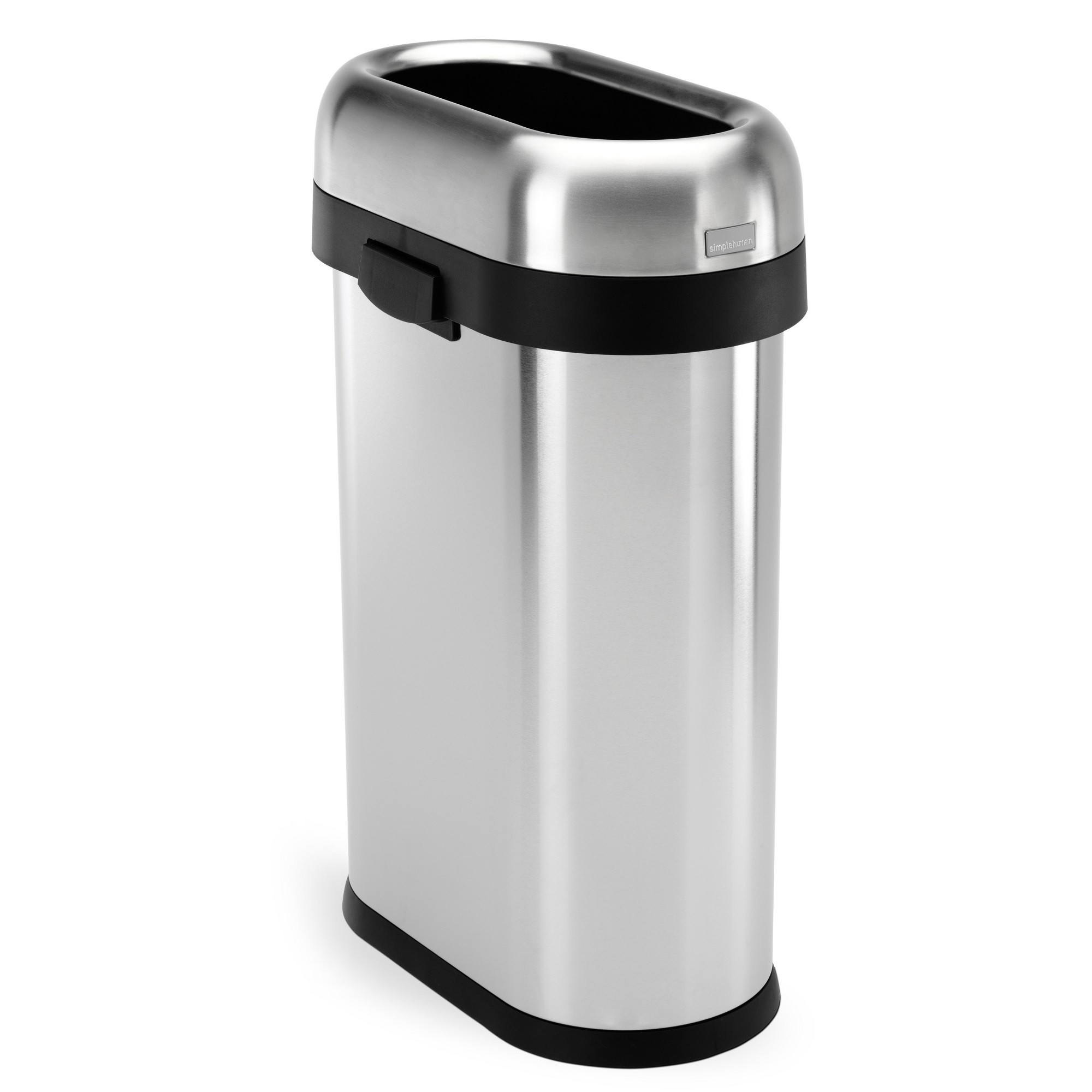 simplehuman 50 Liter Slim Open Top Trash Can, Commercial Grade ...