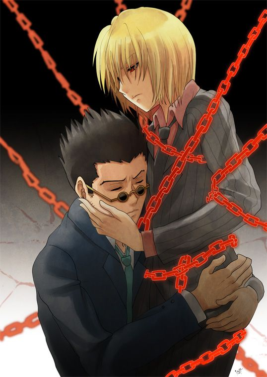 i feel like in this picture leorio doesn't want kurapika to