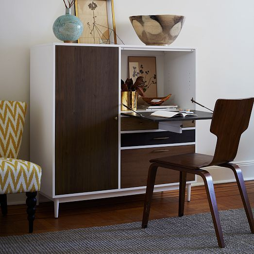 This Patchwork Secretary desk by West Elm is great for #smallspaces ...