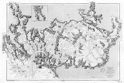 Carte marine du golfe de morbihan carte marine pinterest morbihan mari - Presse ancienne morbihan ...
