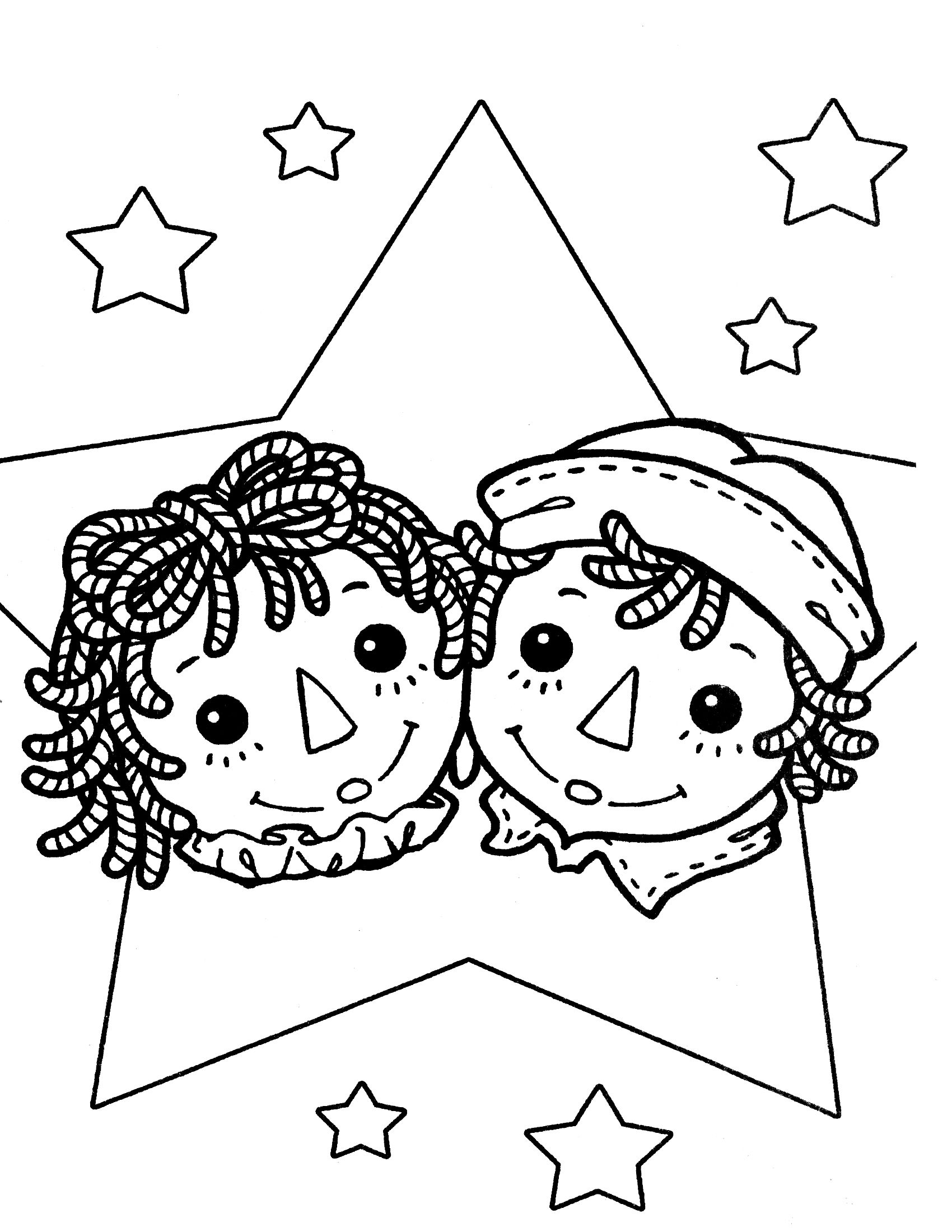 Raggedy ann coloring pages raggedy ann andy coloring for Raggedy ann and andy coloring pages