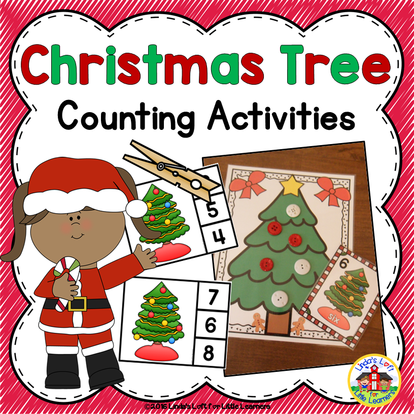 Christmas Preschool Counting Activity Counting Ornaments Counting Activities Preschool Preschool Counting Counting Activities