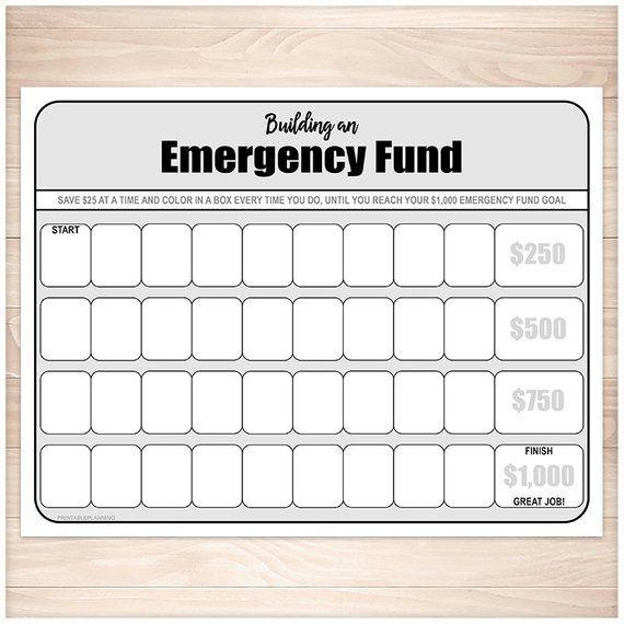 Printable Emergency Fund Worksheet