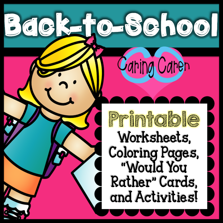 """Back To School PRINTABLE Activities, """"Would You Rather"""