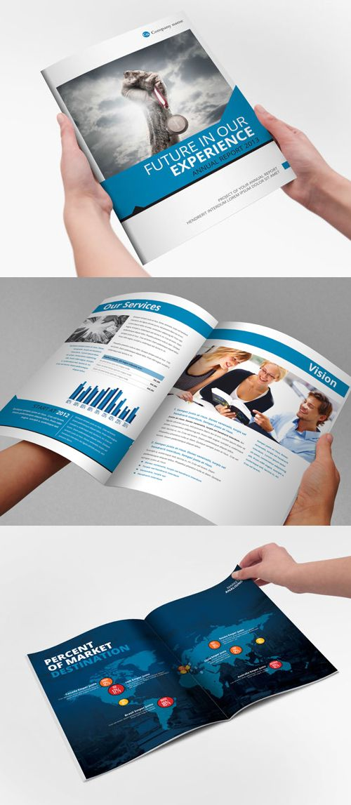 Annual Report Brochure Template #booklet #brochuredesign ...