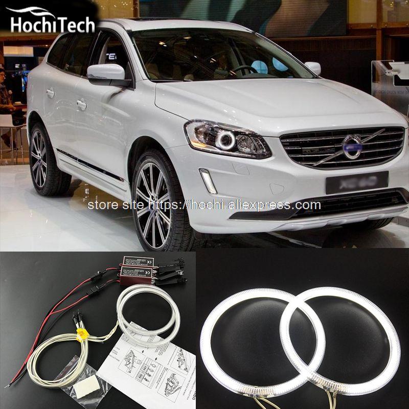 Volvo Xc60 2015 Test: HochiTech Ccfl Angel Eyes Kit White 6000k Ccfl Halo Rings