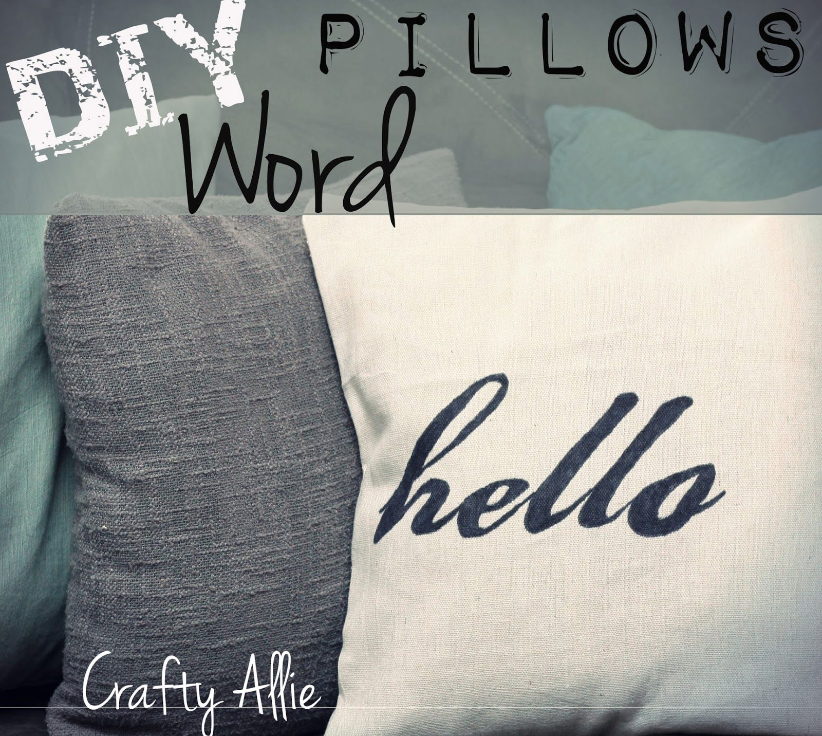 DIY Word Pillows #hello #inspiration # how #to #make