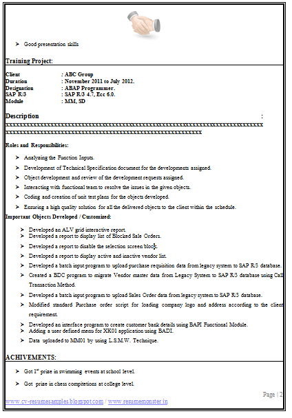 perfect cv example  page 2