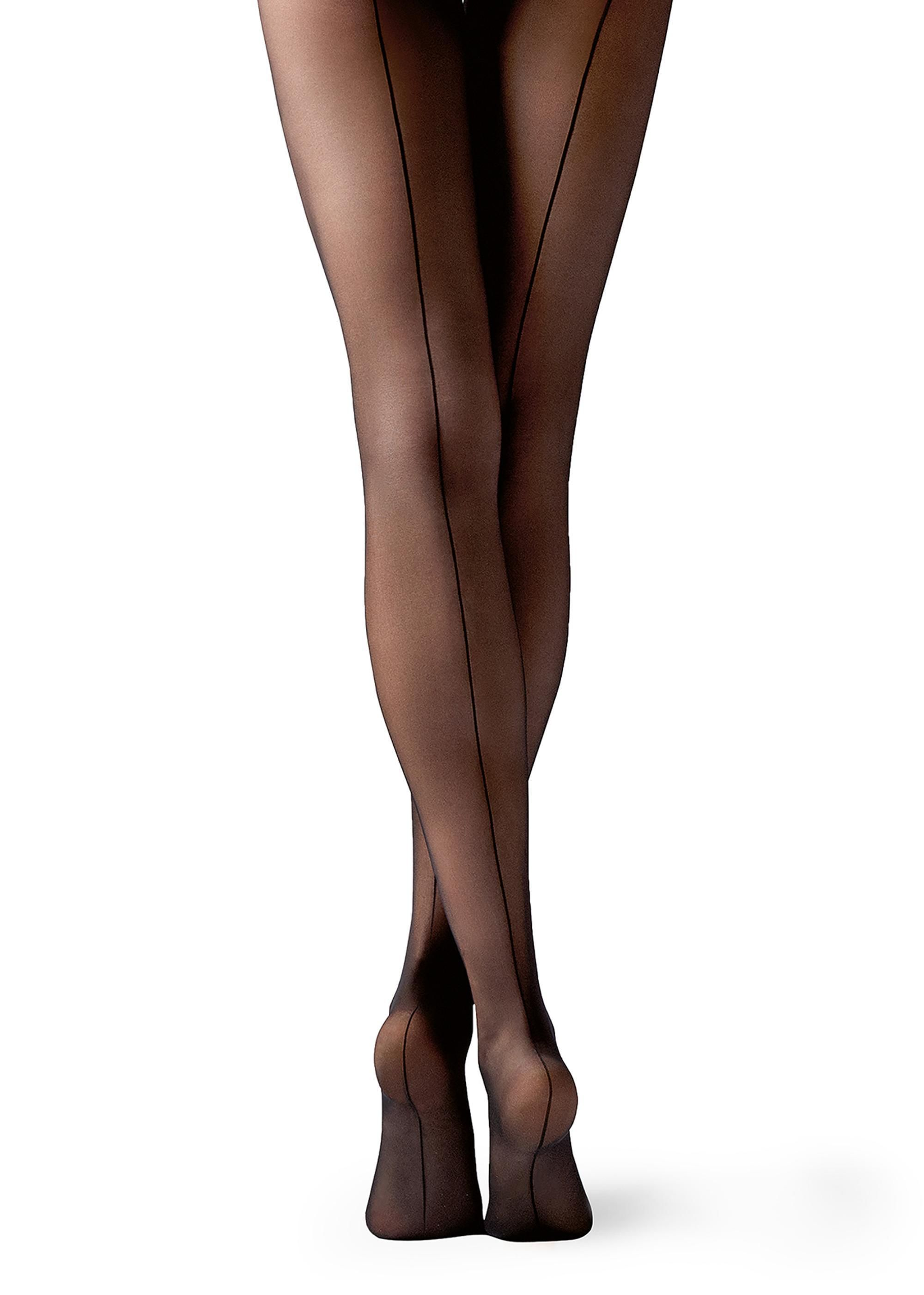 124a205769c 20 Denier Sheer Back Seam Tights - Calzedonia Stockings Outfit