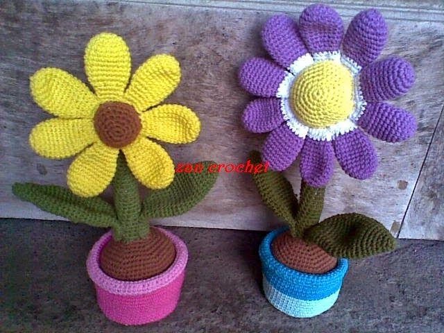 Zan Crochet: Flower in the Pot | Craft - CROCHET | Pinterest ...