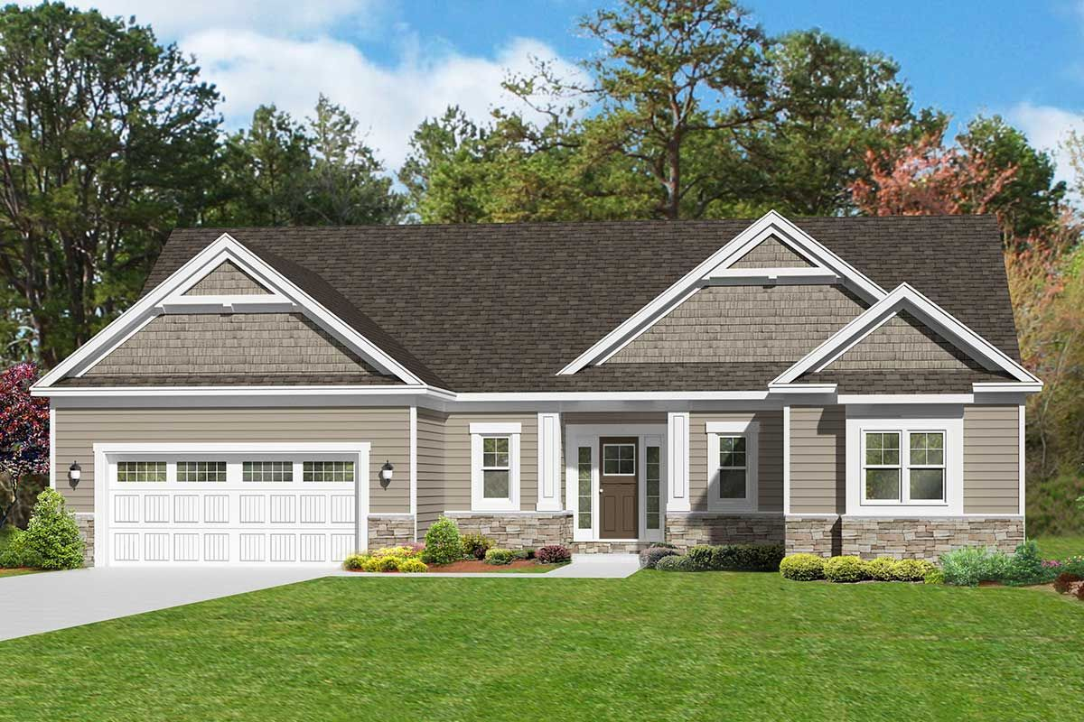 Plan 790029glv 3 Bedroom One Story Open Concept Home Plan Ranch Style Homes Ranch Style House Plans Craftsman Bungalow House Plans