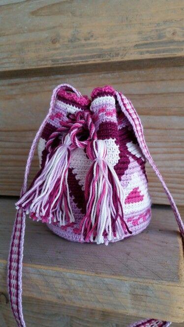 Klein Mochila Tasje Haken Eigen Haakwerkjes Crochet