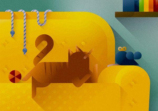 Cats & Sofas art prints on Behance