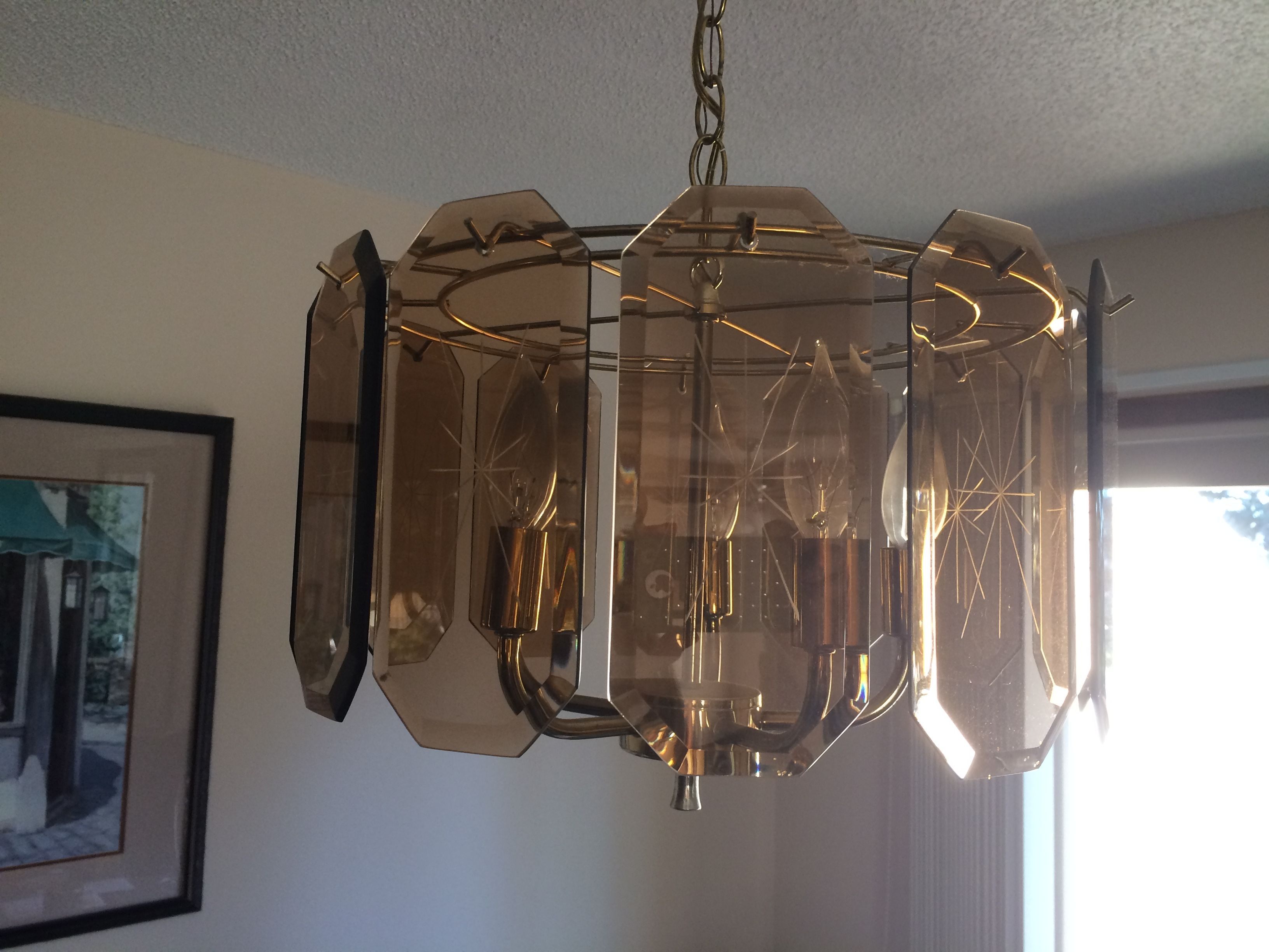Late 70s Early 80s Style Chandelier Glass Pendant Light Outdoor Candle Chandelier Tiffany Style Chandeliers