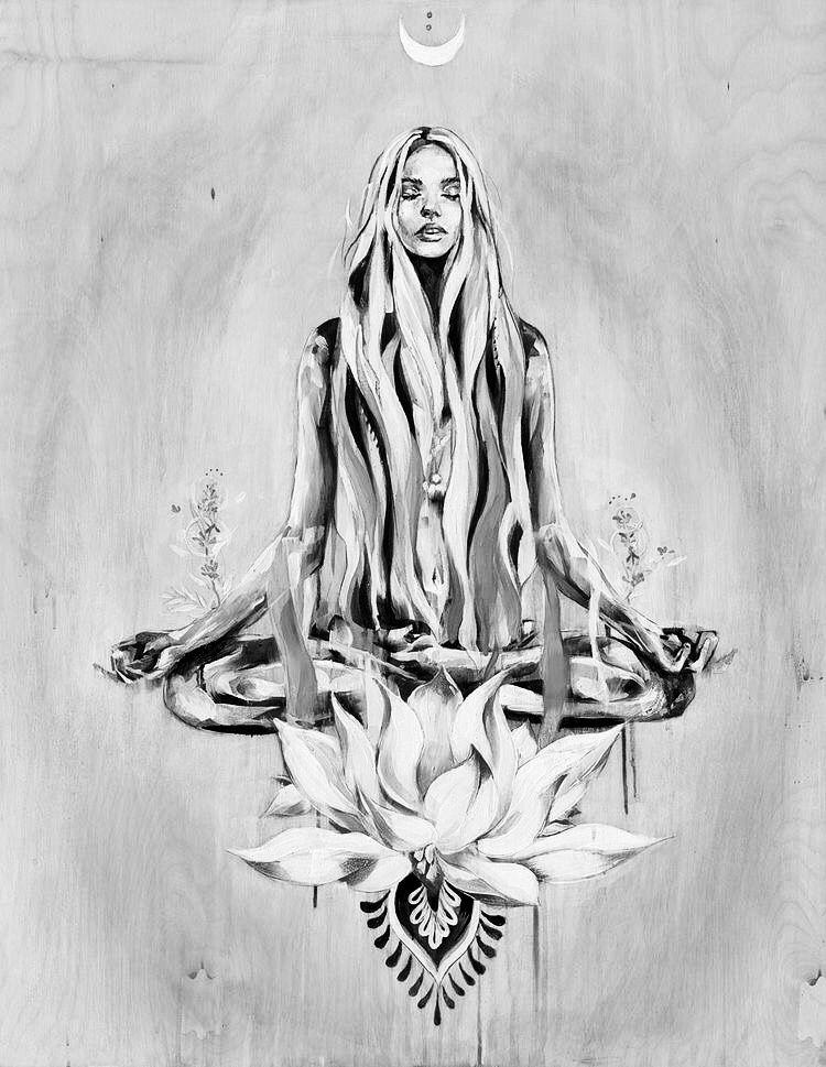 01cc2c0ffb734 Pin by Kandi Blick on Tattoos in 2019 | Art, Yoga art, Art drawings