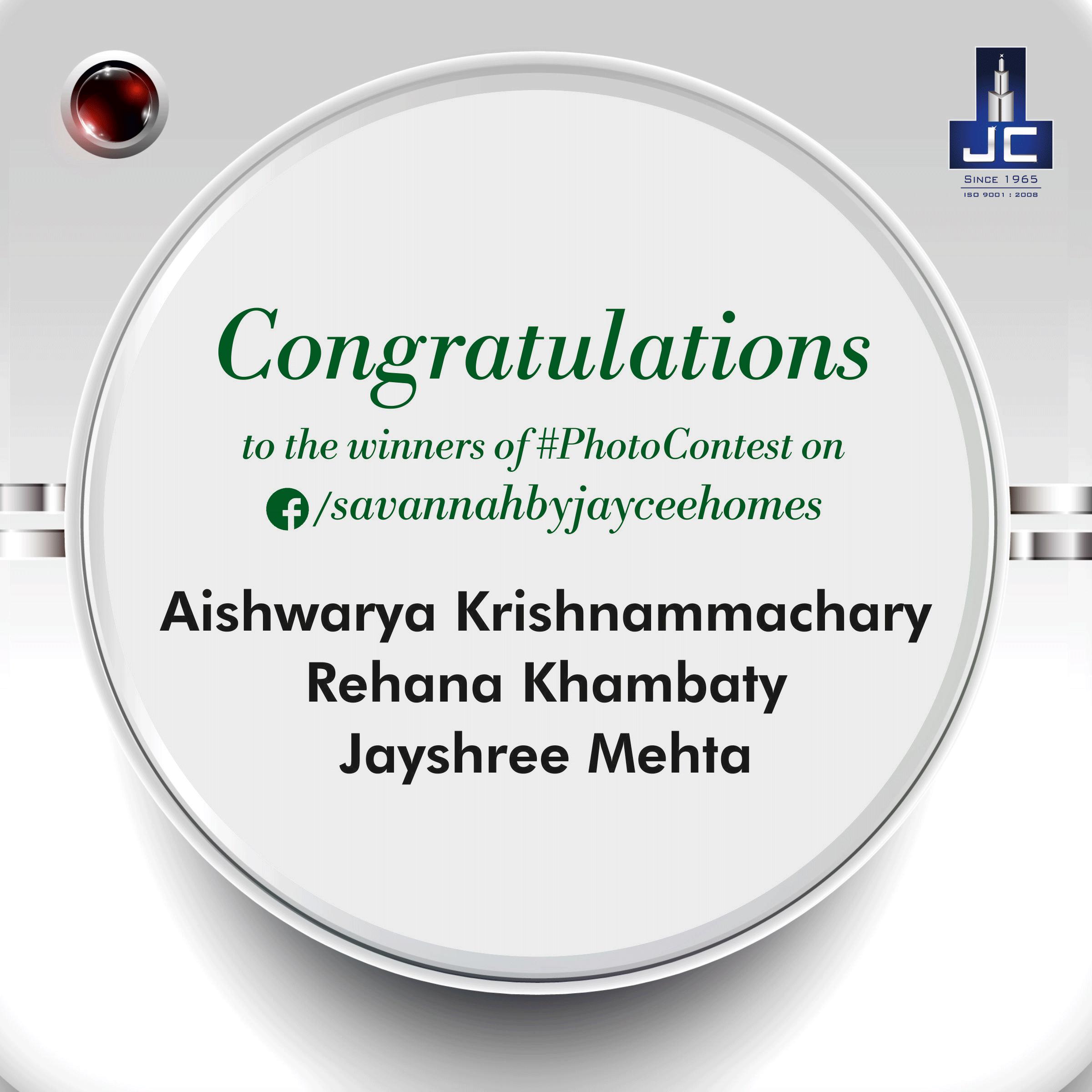 Congratulations to @RehanaKhambaty @AishwaryaPKrishnammachary ...