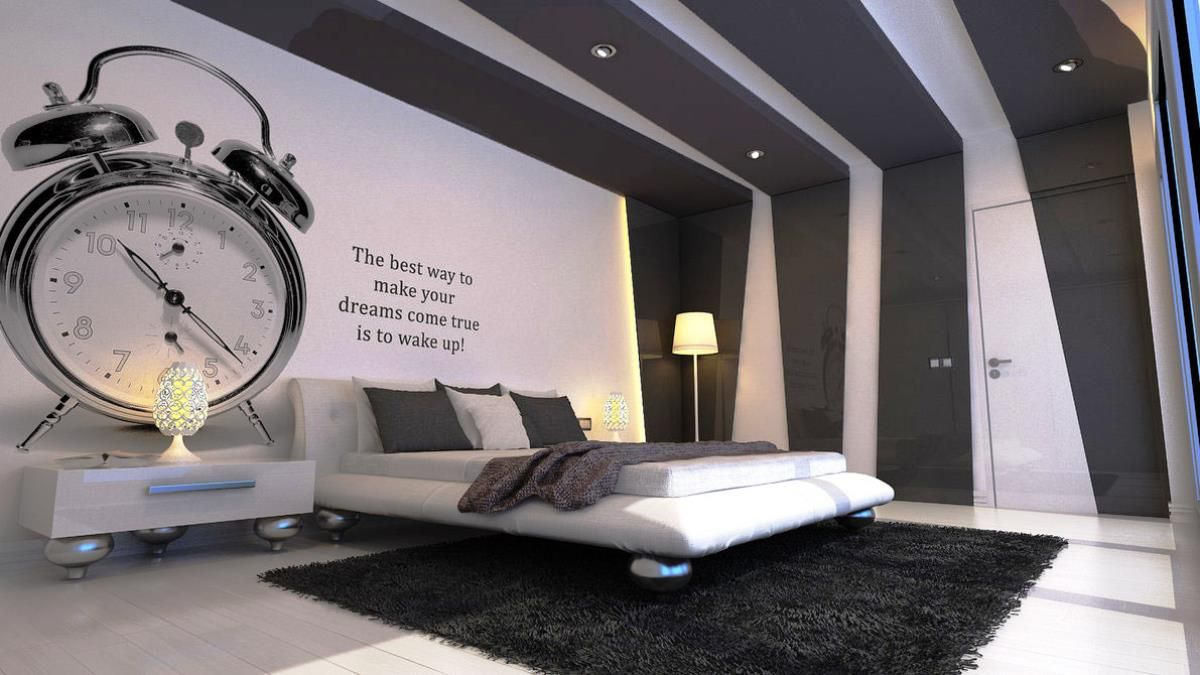 Bedroom, Mens Bedroom Accessories Black And White Themed ...