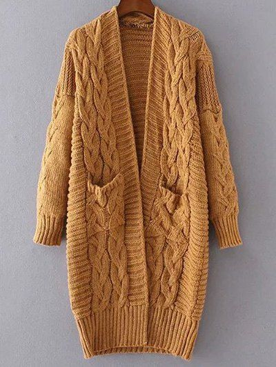Chunky Cable Knit Longline Cardigan | Cable knitting, Cable and ...