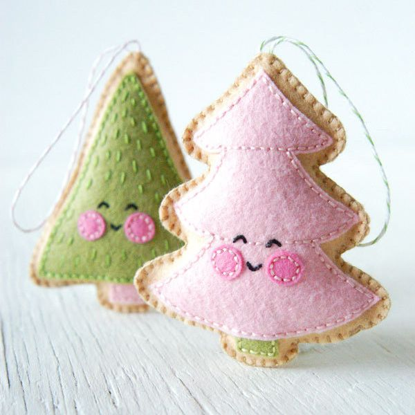 Cute DIY Christmas Decorations | Felt christmas ornaments ...