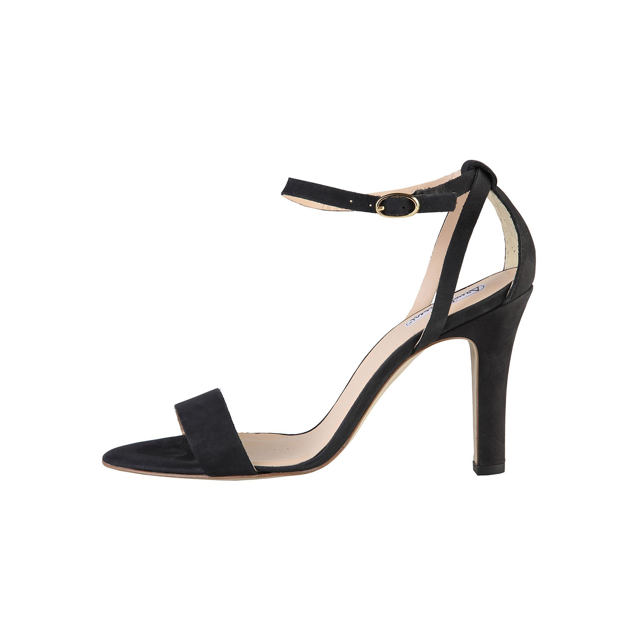 Women shoes   - S/S Collection   - Sandals with adjustable ankle closure   - Upper: GENUINE LEATHER, suede   - Interior: synthetic material   - Sole: rubber   - Heel: 7 cm