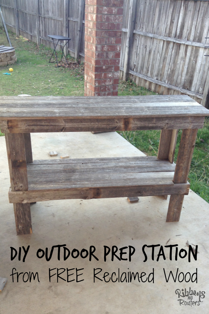 Diy Outdoor Prep Station Ribbons And Routers Diy Outdoor Diy Outdoor Table Wood Diy