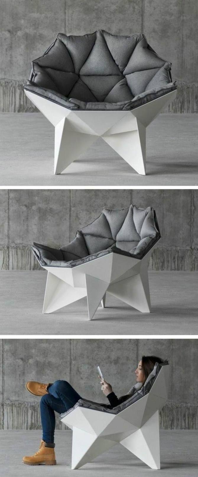Chaise de design ultra moderne minimaliste
