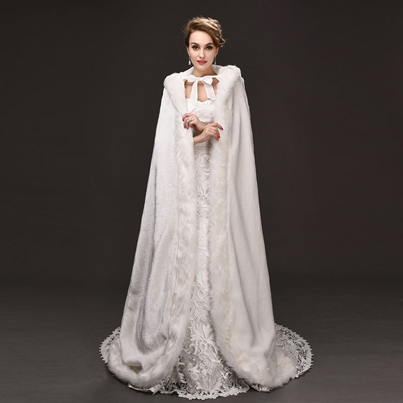 Veste fourrure femme mariage