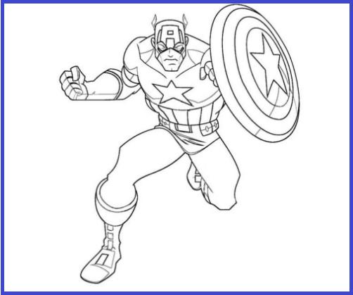 Pintar Capitan America Capitan America Dibujo Dibujos Y Paginas