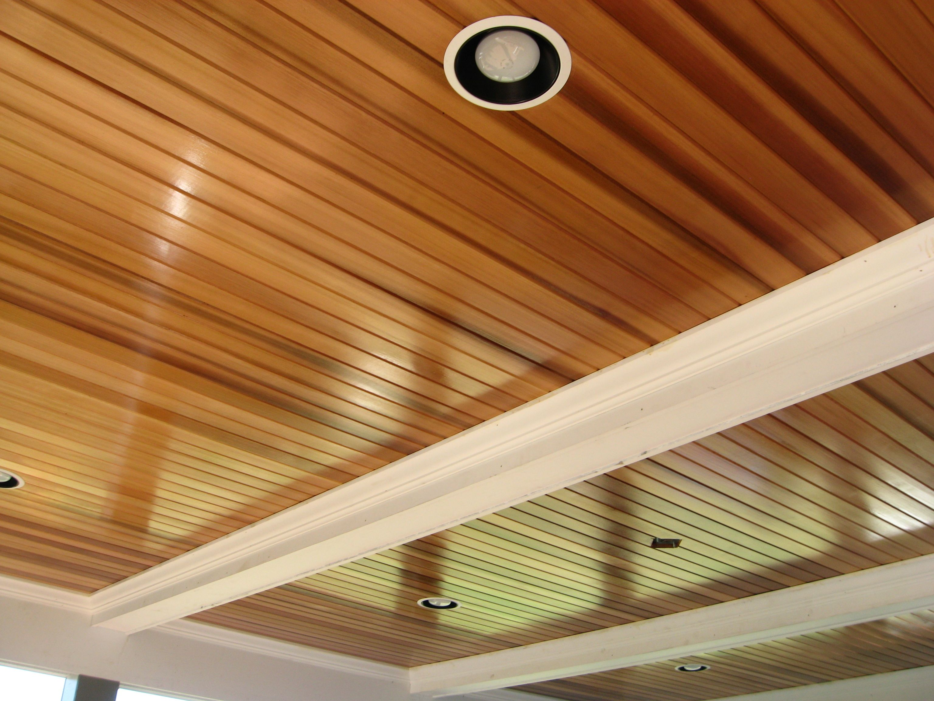 Wood Ceiling Treatments Beautifully Shiny Cedar Ceiling General Interior