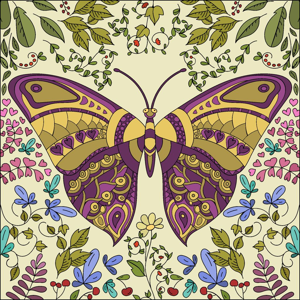 Pin By John Brownell On Coloring Colorful Art Butterfly Pictures Happy Colors
