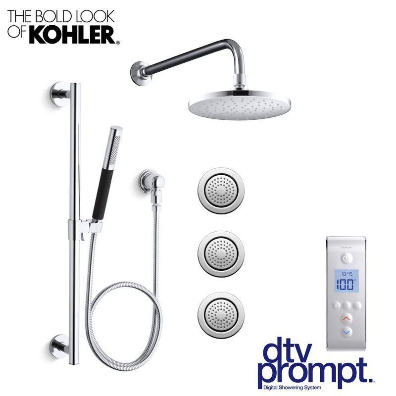 Kohler DTV Prompt CR-SP3 Luxury Shower System: Includes 3 Port ...