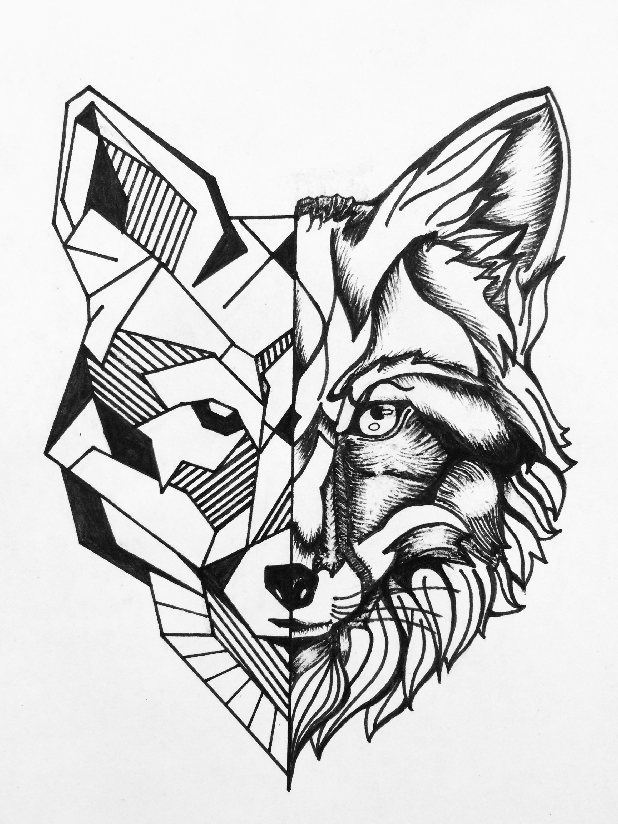 Fox Tattoo Idea Fox Tattoo Geometric Fox Tattoo Sketch Lion Tattoo Sleeves