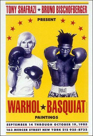 Andy Warhol Jean-Michel Basquiat 1985 Boxing poster print 11x17
