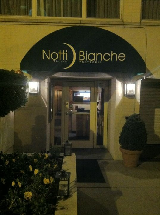 Notti Bianche. Great little Italian restaurant and one of the few within walking distance of the Kennedy Center.  Park here, leave your car and walk to the performance.  If you haven't realized, the KC is in a food desert--but for this little gem.  Delicious food; not too fussy.  A long-time favorite of ours. Get your reservations early before performance. So much better than any of the KC restaurants.