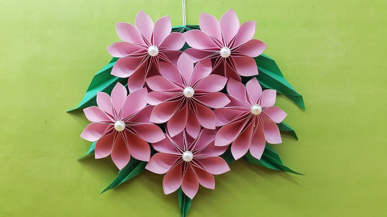 Origami Easy Paper Flower Paper Flower Wall Hanging Diy