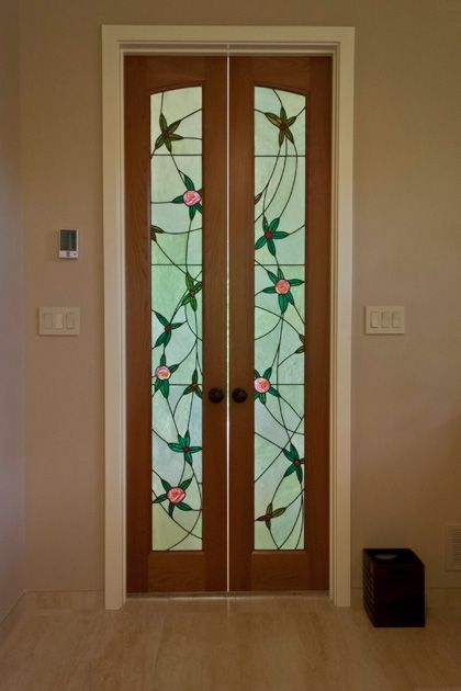 Stained glass art by rudi waros admired work stained glass a recently installed stained glass art door light by rudi waros of classic glass accents the art nouveau decor of this bethesda md home planetlyrics Gallery