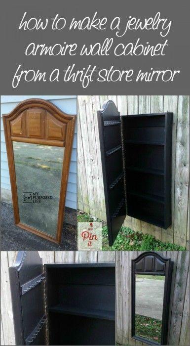 Mirror Jewelry Armoire Mirror jewelry armoire Dresser mirror