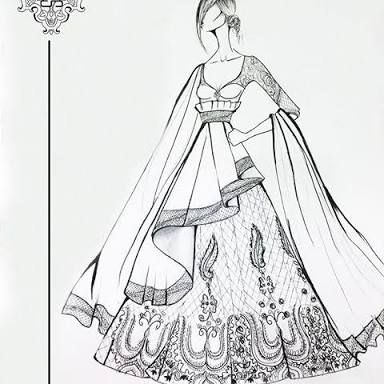 Image Result For Manish Malhotra Saree Sketches Fashion Design Sketches Dress Illustration Croquis Fashion