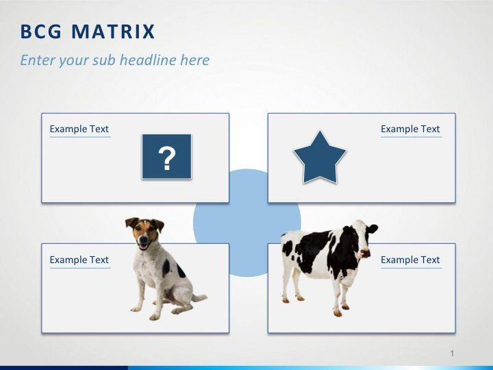 PowerPoint template for BCG Matrix PowerPoint Templates Pinterest