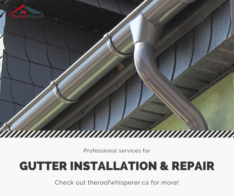 Homeowners Who Would Like To Install Gutters Should Consider Factors Like A Roof S Pitch Or Angle Roof Installation Roof Repair How To Install Gutters