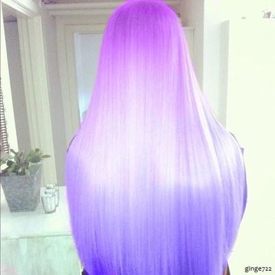 cute neon purple blue ombre hair