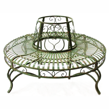 Chair Metal Tree Wrought Iron Bench Pergola Shade Cover
