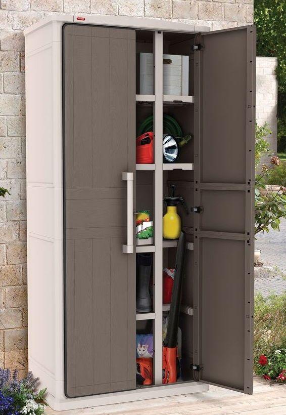 Szafa Ogrodowa Na Narzedzia Keter Optima Tall Ogrodosfera Pl Tall Cabinet Storage Locker Storage Cabinet